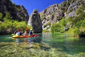 Kayaking auf der Zrmanja