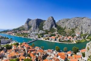 Omis - Blick auf die Cetina von der Festung Mirabella