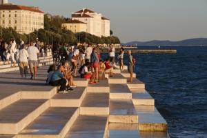 Meeresorgel an der Uferpromenade in Zadar