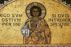 Mosaik über dem Eingangsportal zur Euphrasius-Basilika in Porec (UNESCO)