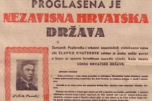 Ante Pavelić gründet am 10. April 1941 den auf Nazi-Deutschland und Italien angewiesenen Vasallenstaat NDH (Unabhängiger Staar Kroatien)