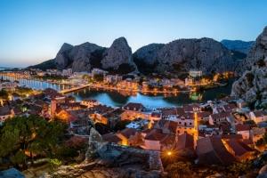 Abendlicher Blick auf die Cetina
