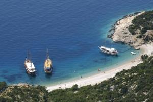 Der traumhaft schöne Strand von Lubenice - Insel Cres