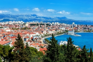 Panorama von Split vom Hausberg Marjan aus gesehen