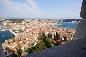 Blick vom Glockenturm auf Rovinj