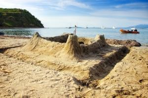 Sandstrand auf der Insel Susak