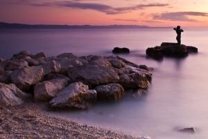 Die Statue der Meerjungfrau in Podgora bei Makarska ist ein beliebtes Fotomotiv