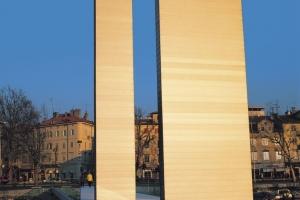 Fußgänger-Brücke der Verteidiger Kroatiens in Rijeka