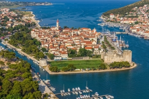 The old town of Trogir is situated on a small island