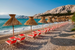 Vela Plaza Beach in Baska