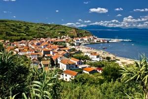 The sllepy little town of Susak near Losinj island