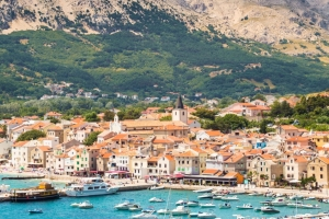 View of Baska from the sea