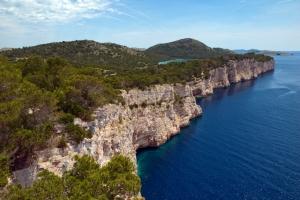 Cliffs in Telascica Nature Park