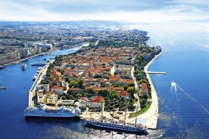 Aerial view of Zadar old town