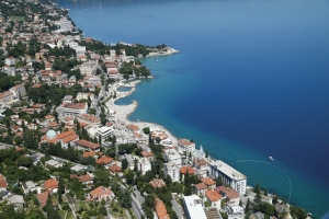 The glamorous Opatija near Rijeka is a very popular holiday resort