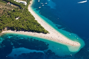 Zlatni Rat Beach (Golden Cape) near Bol - Brač island