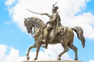 Ban Jelacic Statue am gleichnamigen Platz im Herzen von Zagreb