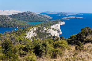Cliffs Nature park Telašcica in southern Dugi otok and the Kornati islands