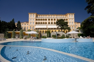 The Grand Hotel Kvarner Palace in Crikvenica opened in 1896