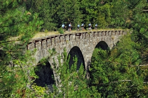 Parenzana - popular cycling - and walking trail on a former train path
