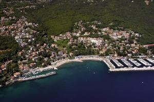 Icici next to Opatija - aerial view